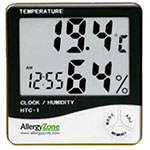 AllergyZone Humidity, Temperature, Clock, Alarm Meter HTC-1